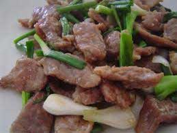 Thai beef in Oyster sauce