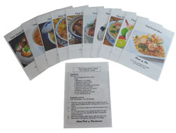 Thai recipes cards