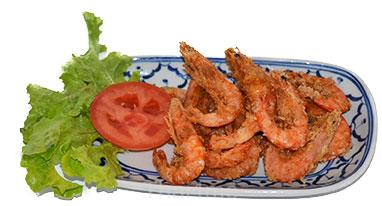 Thai serving platter with prawn