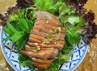 Thai warm duck salad