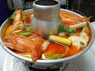 Thai spicy and sour seafood soup