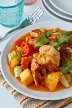 Thai sweet and sour prawn